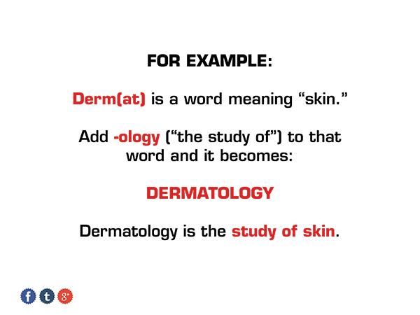 Dermatology suffix medical ap vocab 1