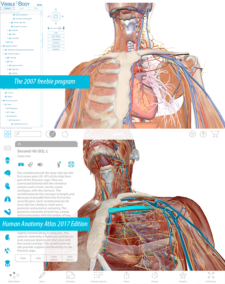 Human Anatomy Atlas, then and now.