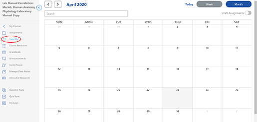 calendar-in-courseware