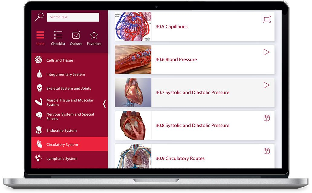 Watch a demo for Anatomy and Physiology for iOS, Android, PC and Mac
