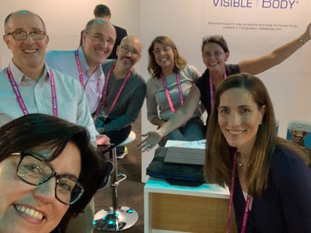 Partying at our booth at HLTH2019